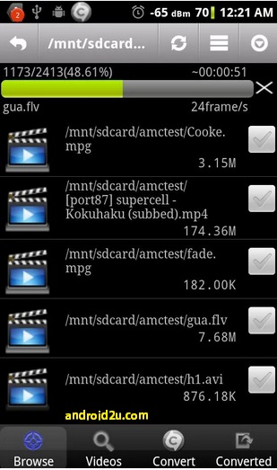 Video compressor for android