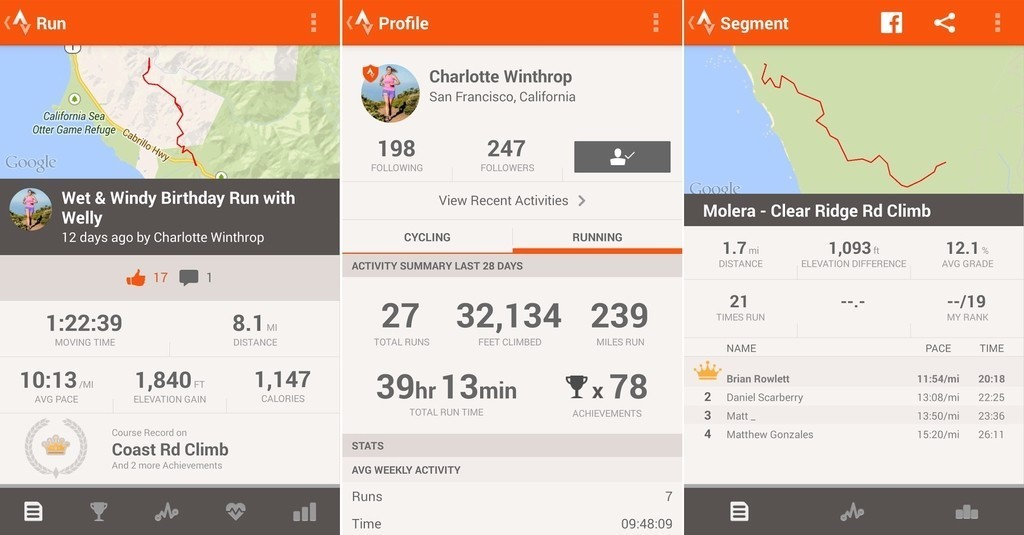 Best Cycling and running app