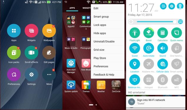 Asus Zenfone 2 launcher