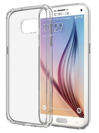 Crystal Clear Bumper Case S7 By luvvitt