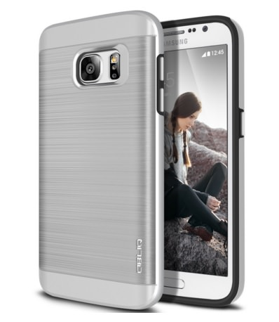 Obliq Metallic Brush Dual Layer Galaxy S7 Edge Case