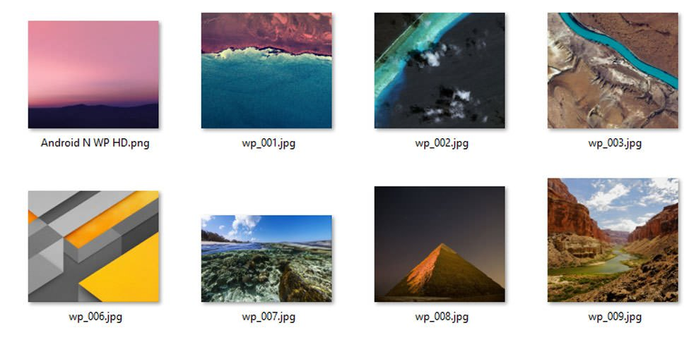 Download Stock Wallpapers of Android N